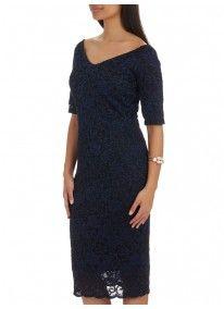 Next | Lace Bodycon Dress Navy
