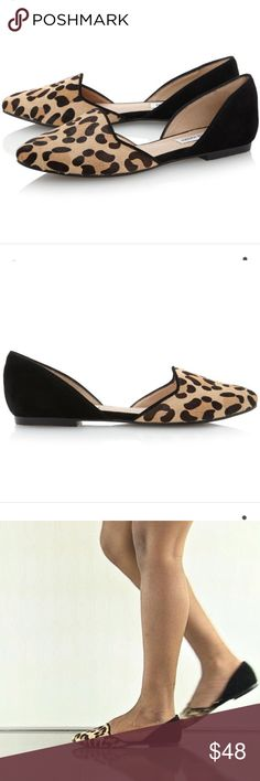 🆕Steve Madden Leopard Vamp Flats NEW WITHOUT Box//floor model-excellent condition//super cute fall must have leopard vamp flats by Steve Madden//NARROW (AA, N)//Please message me if you have questions//I will consider REASONABLE offers!!! 👯 Steve Madden Shoes Flats & Loafers