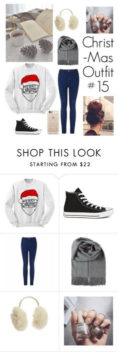 """Christmas outfit #15"" by beautifulgresham ❤ liked on Polyvore featuring Converse, Ally Fashion, House of Lafayette, Floss Gloss and Casetify"