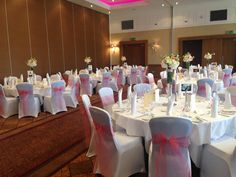 The Westerwood Hotel & Golf Resort Carrick Suite set for a wedding #TheWesterwood #Weddings #QHotels