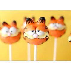 Garfield cake pops via Bakerella