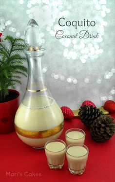 En Español   For a couple of years I have been making chocolate eggnog , but this Christmas I decided to make Puerto Rican coquito inst...