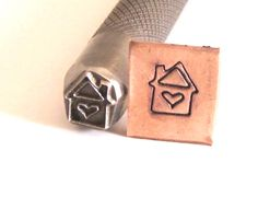 House heart stamp for all metals Romazone $25.00  7x8mm