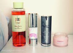The Autumn Skindrobe: Pixi Glow Tonic | Bryt Calm Serum | Sarah Chapman Morning Facial | The Body Shop Aqua Sorbet