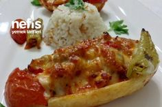 Şahane Tavuklu Patates Sandal Tarifi Fish And Meat, Fish And Seafood, Fresh Fruits And Vegetables, Veggies, Turkey Today, Turkish Sweets, Turkish Kitchen, Cakes And More, Italian Recipes