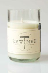 Rosé Rewind Candle - Made in repurposed wine bottles. Notes of rose, white peach & pink peppercorn.  Smells amazing!