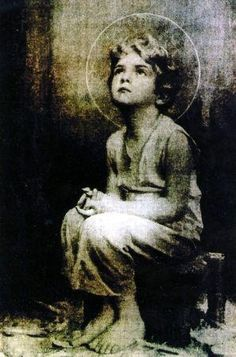 "Miraculous image of the Child Jesus— A monk on the desert is reported to have taken a picture of the Holy Eucharist while exposed. Upon developing the film, this image of the child Jesus appeared. Sometime later, Jesus told this same monk that he would, ""I promise to send my blessings and my peace to each home where this image is found."""