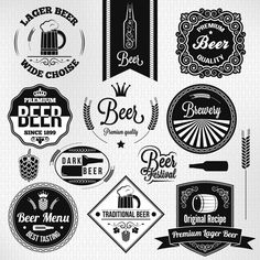 Vintage Beer Label vector ShablonRGB