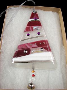 Fused Glass Christmas Ornament | Handcrafted fused glass chr… | Flickr