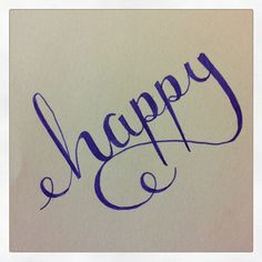 Happy Calligraphy