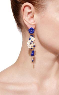 Lapis Nesters Earring by Of Rare Origin | Moda Operandi