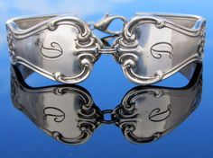 Spoon Bracelet Small  D Monogram Signature by dankartistry on Etsy, $26.00