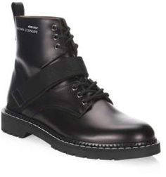 Valentino Strapped Leather Combat Boots