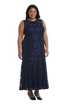 R&M Richards Long Formal Plus Size Lace Gown 3198W   The Dress Outlet Richard Long, Formal Wear, Formal Dresses, Pageant Dresses, Bride Dresses, Full Length Gowns, Fashion Mask, V Cuts, Mother Of The Bride