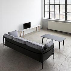 Copenhague Deux Couchtisch Schwarz 120 x 60 cm Hay HayHay Bench Designs, Cool Designs, Design Online Shop, Hay Design, Scandinavia Design, Aesthetic Design, 3 Seater Sofa, Contemporary Furniture, Sofas