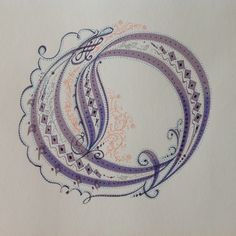 """Series One, the original sketch of """"O"""", 2014 by A.Abraham."""