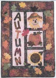 Quick and easy applique wall hanging for Fall. Autumn Whimsy Quilt Pattern FRD-1121 by Fairfield Road Designs - Christine Baker.  Check out our table runner patterns. https://www.pinterest.com/quiltwomancom/table-runners-and-place-mats/  Subscribe to our mailing list for updates on new patterns and sales! http://visitor.constantcontact.com/manage/optin?v=001nInsvTYVCuDEFMt6NnF5AZm5OdNtzij2ua4k-qgFIzX6B22GyGeBWSrTG2Of_W0RDlB-QaVpNqTrhbz9y39jbLrD2dlEPkoHf_P3E6E5nBNVQNAEUs-xVA%3D%3D