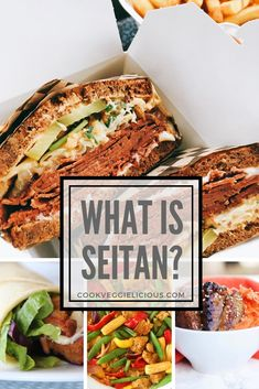 What is seitan? I hear you ask. Whether you're a long-term vegan, a newbie, someone doing Veganuary or just trying to cut down on meat consumption it's likely that you'll come across this mock meat soon if you haven't already. Vegetarian Dinners, Vegetarian Recipes, Vegan Iron, Vegan Nutrition, Meat Recipes, Seitan Recipes, Vegan Dishes, Going Vegan, Healthy Eating