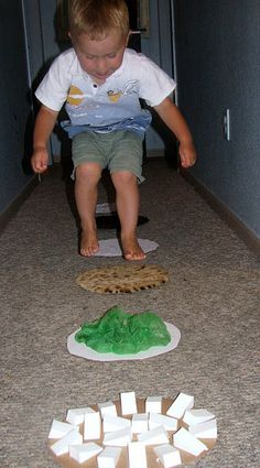 Sensory Steps-- DIY YES!  Great for added challenge to 'obstacle course'.  May want to add a body sock or tunnel or other deep pressure afterwards...