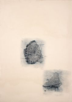 """Mark Goodwin, Parts, 2011, hide glue, pigment, milk paint, paper on canvas stretched on board, 45.75"""" x 32.5"""""""