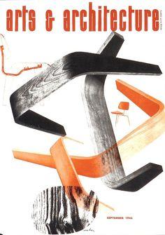 Herbert Matter cover design, September, 1946 issue of Arts & Architecture