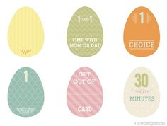 Easter Egg Privilege Cards Free Printable - Over the Big Moon Moon Easter Egg, Easter Eggs, Easter Printables, Free Printables, Easter Egg Template, Easter Crafts, Easter Decor, Egg Decorating, Holiday Fun