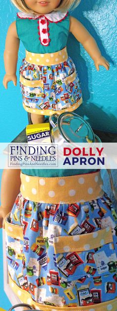 Inspired by the fabric, I just had to do an apron for dolly. The pattern I used for the apron is from Simplicity Sewing Pattern 2761 . ...