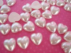 Pink pearly hearts