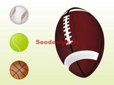 4 Sport Balls Clip Art Graphics Download #sport #clipart #graphics