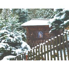 snowy hut #photography #snow #winter #photography #ello