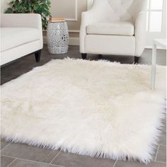 Rugs For Living Room How would you describe this? Rugs For Living Room white faux fur rug Handmade sheepskin shag rug. White Fluffy Rug, White Faux Fur Rug, Fuzzy White Rug, White Leather, Living Room Decor, Bedroom Decor, Bedroom Rugs, Bedroom Ideas, Fluffy Rugs Bedroom