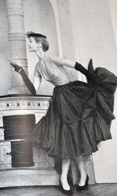 Christian Dior, photo by Karen Radkai, 1955
