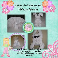 Towel animals from our Disney Wonder Cruise_Feb 2010 Disney Wonder Cruise, Love Comes Back, Cruise Scrapbook, Towel Animals, Disney Pixar, Arts And Crafts, Frame, Fun, Ideas