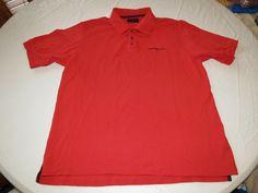 Henri Lloyd XL short sleeve Polo short sleeve Shirt Red cotton EUC @ #HenriLloyd #Polo