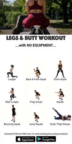 leg workout at home - leg workout ; leg workout at home ; leg workout with weights ; leg workout for men ; leg workout with bands ; leg workout at home toning exercises ; leg workout at home with weights Fitness Workouts, Fitness Herausforderungen, Gym Workout Tips, Fitness Workout For Women, At Home Workout Plan, Workout Challenge, Fitness Motivation, Workout Exercises, Butt Workouts
