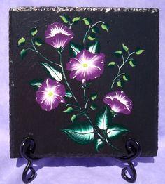 Hand Painted Slate Trivet by ipaintitpretty on Etsy, $20.00