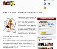 Developing a Healthy Business Lifestyle Through Outsourcing Lifestyle, Business, Healthy, Store, Business Illustration, Health