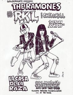 Amazing Punk Flyers & Posters from The 80s - The Ramones