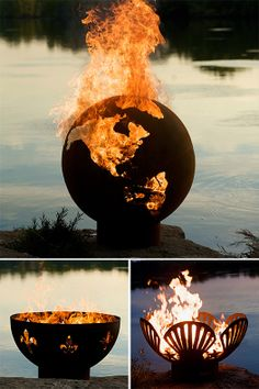 hand-crafted steel fire pits by Rick Wittrig . More Design Please