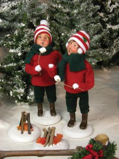 Boy & Girl Roasting Marshmallows