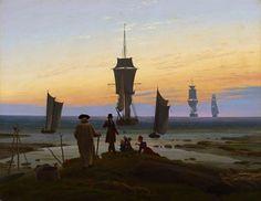 """Caspar David Friedrich: """"Die Lebensstufen"""", um 1834 (Museum der bildenden Künste, Leipzig)"""
