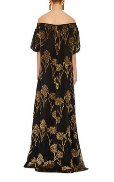 Velvet Embellished Gown by ROCHAS Now Available on Moda Operandi
