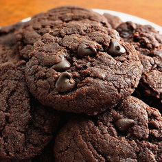 Double Chocolate Chip Cookies! - SO HEAVENLY!!! #Food #Drink #Trusper #Tip