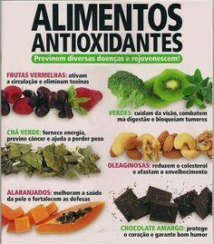 Reeducação alimentar - Alimentos antioxidantes