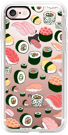 Casetify iPhone 7 Classic Grip Case - Sushi Fun! by Kristin Nohe Juchs #Casetify