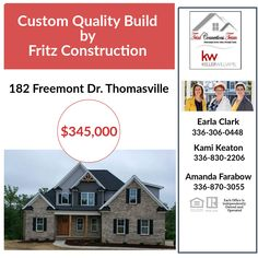 Don't miss out on this home! So many features inside this home and within the neighborhood. 🏚️😍 #triadconnectionsteam #newconstruction #buyhome #breckenridgecommunity New Construction, North Carolina, The Neighbourhood, Building, Buildings, The Neighborhood