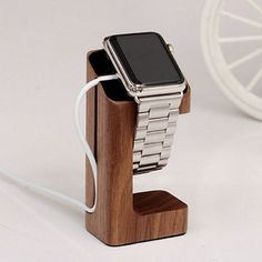 Wooden Charging Stand Holder Keeper for Apple Watch