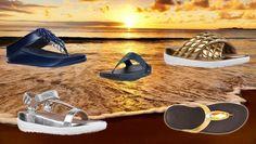 #FitFlop Fitness Schuhe  - Sandalen in verschiedenen Farben und Modellvariationen. Clogs, Fitflop, Sneaker, Sandals, Fashion, Comfortable Sandals, Shoes Sandals, Fitness Shoes, New Shoes