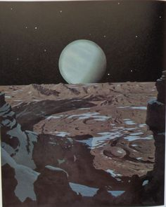 Neptune from Triton - Chesley Bonestell