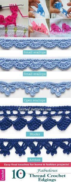 Beautiful #crochet #edgings and #trimmings